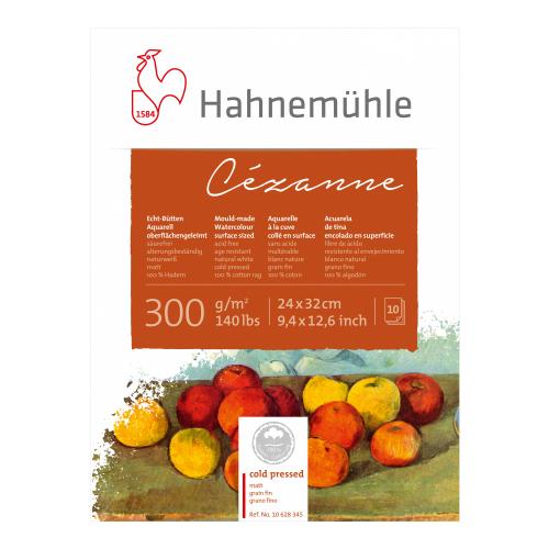 Bloco Aquarela Cezanne 24x32cm, 300 g/m², text fina, 10 folhas - Hahnemühle
