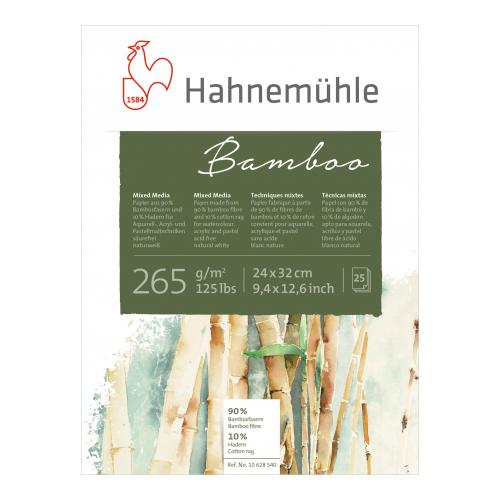 Bloco Bamboo Téc. Mistas, 265 g/m², 24 x 32cm, 25 folhas - Hahnemühle