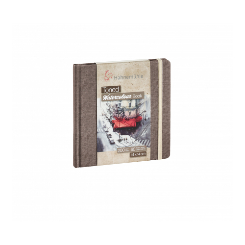 Caderno Aquarela Toned Watercolour Book Bege 200 g/m², tam 14x14cm, 30 folhas - Hahnemühle