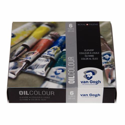 Estojo Tinta a Óleo Van Gogh, 6 cores, 20ml – Talens