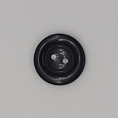 Botão preto médio detalhe (12 unidades)