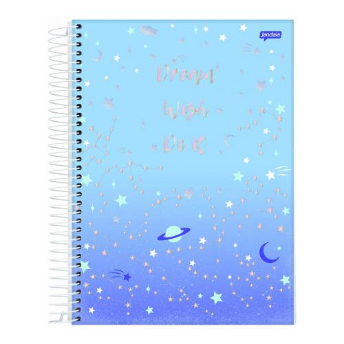 Caderno Universitário Jandaia 160 folhas - Coleção Mystic Capas