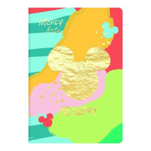 Caderno Universitário Brochura Jandaia 80 folhas - Coleção Mickey Arts Capas.