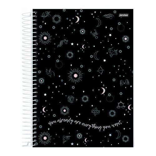 Caderno Universitário Jandaia 80 folhas - Coleção Mystic Capas