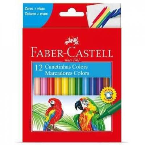 Canetinhas 12 cores Faber-Castell