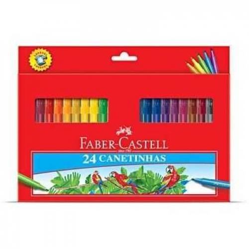 Canetinhas 24 cores Faber-Castell
