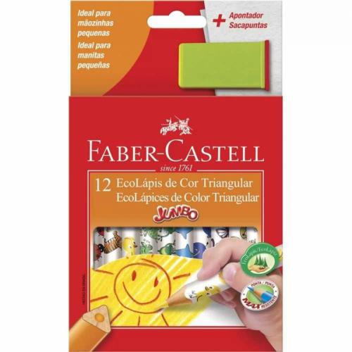 EcoLápis de Cor Triangular 12 cores Faber-Castell