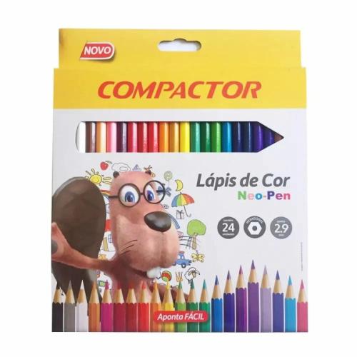 Lápis de cor Neo-Pen 24 cores.