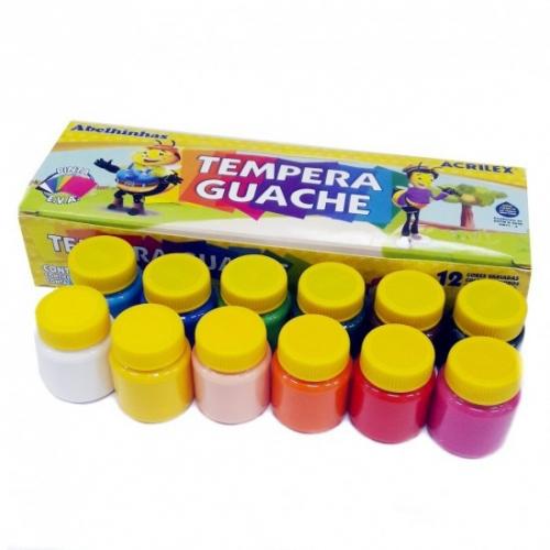 Tempera Guache Acrilex 12 unidades