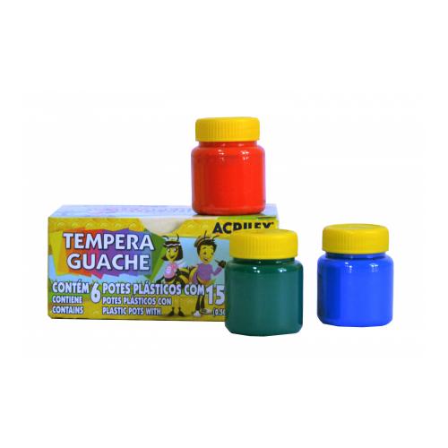 Têmpera Gauche Acrilex 6 cores